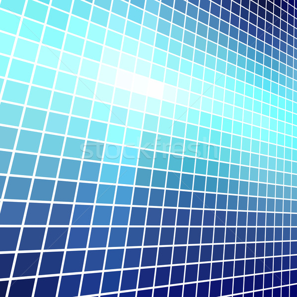 Abstract  blue light mosaic vector background. Stock photo © tuulijumala