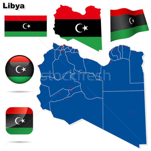 Libya vector set. Stock photo © tuulijumala