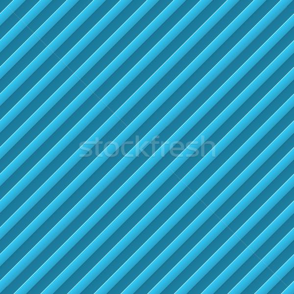 Diagonal bumped stripes blue background. Stock photo © tuulijumala