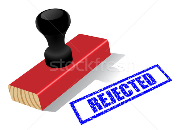 "Wooden rubber stamp with ""Rejected""  impress isolated Stock photo © tuulijumala"