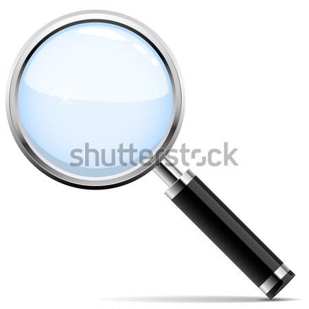 虫眼鏡 クロム リム 黒 ハンドル ビジネス ストックフォト © tuulijumala