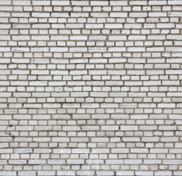 Aged white brick wall seamless texture. Stock photo © tuulijumala
