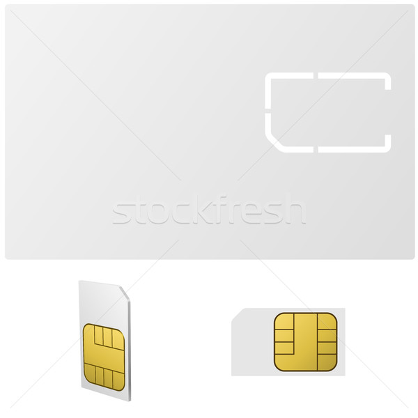 Blank SIM card vector template Stock photo © tuulijumala