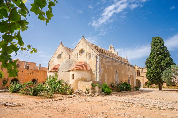 The backyard of the Arkadi Monastery at Crete. Greece.  Stock photo © tuulijumala