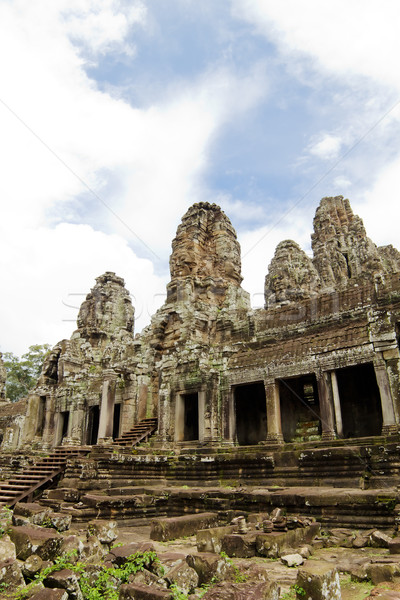 Bayon  Temple. Angkor, Siem Reap, Cambodia. Stock photo © tuulijumala