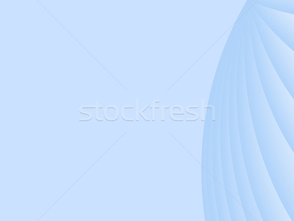 Blue abstract background with radial shapes.  Vector illustratio Stock photo © tuulijumala