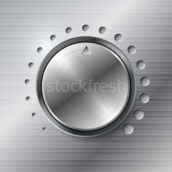 Metallic volume rotating knob. Stock photo © tuulijumala
