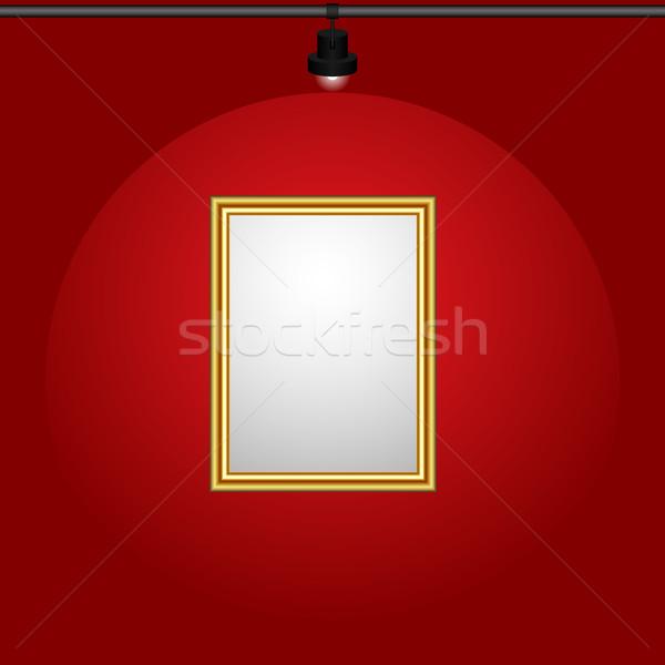 Verlicht schilderij opknoping muur abstract Stockfoto © tuulijumala
