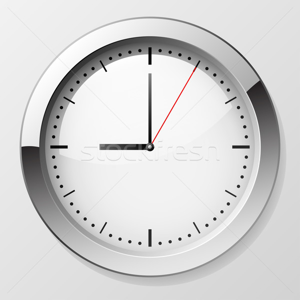 Classic wall clock with pointers at 9 o'clock symbolizing begi Stock photo © tuulijumala