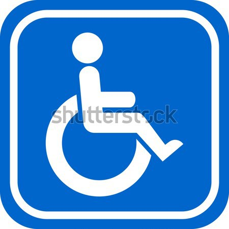 Handicapped person sign Stock photo © tuulijumala