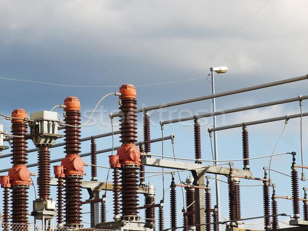 Elektryczne moc transformator przemysłowych ceramiczne Zdjęcia stock © tuulijumala