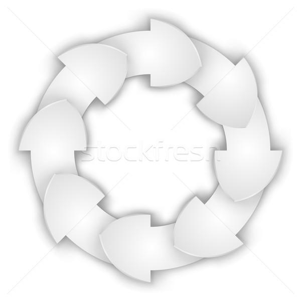 White curled paper arrows cycle Stock photo © tuulijumala