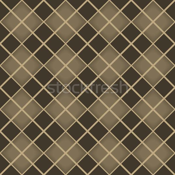 Seamless brown diamond geometrical vector pattern. Stock photo © tuulijumala