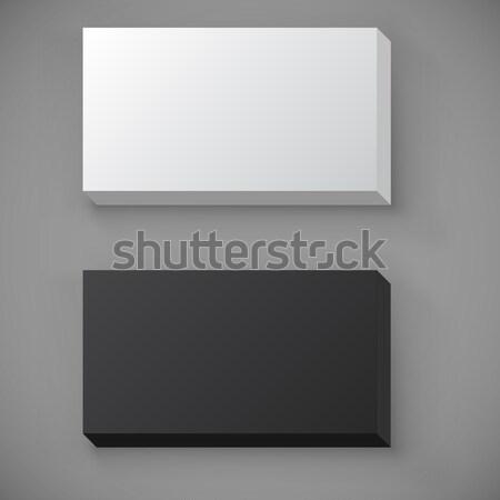 стандартный визитной карточкой шаблон черно белые вектора Сток-фото © tuulijumala