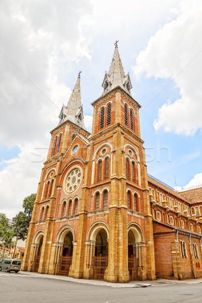 Bazilika şehir Vietnam bayan katedral fransız Stok fotoğraf © tuulijumala