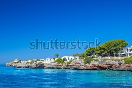 View on Cala des Frares cove at Ciutadella town, Menorca island, Stock photo © tuulijumala