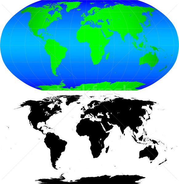 Shape of the Earth continents. Detailed world map silhouette.  Stock photo © tuulijumala