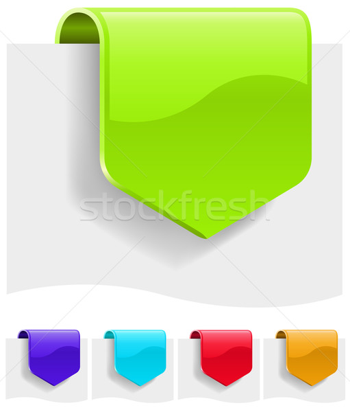 Blank discount tags in different color variants.  Stock photo © tuulijumala