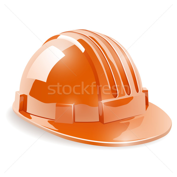 Construction safety helmet isolated on white background vector i Stock photo © tuulijumala
