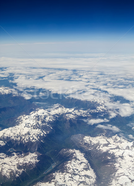 Pyrenees mountain peaks covered with snow. Stock photo © tuulijumala