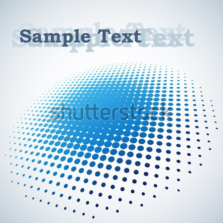 Abstract blue halftone spot vector background with copy space. Stock photo © tuulijumala