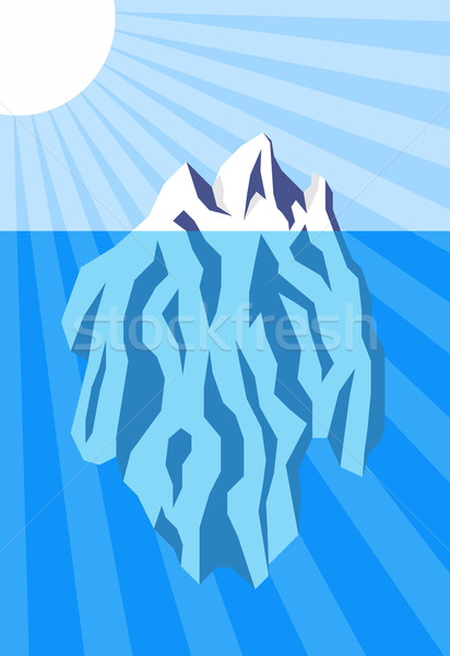 Vector illustration of iceberg floating in water Stock photo © tuulijumala