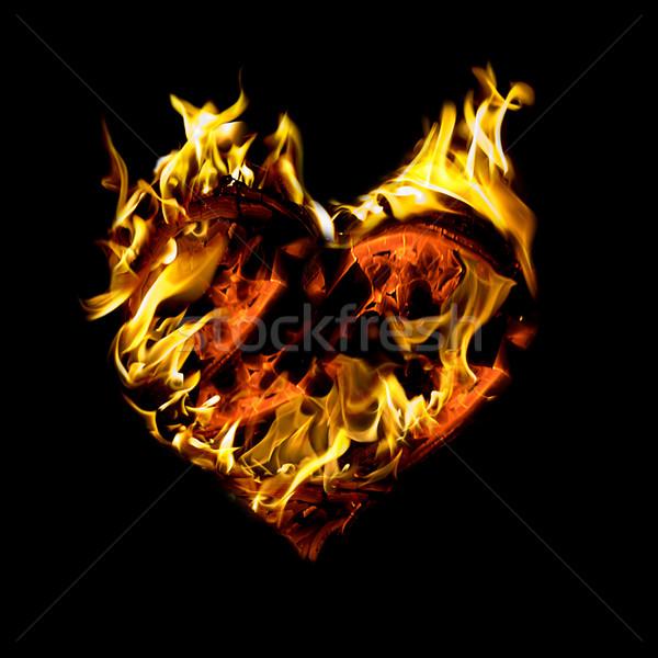 Stock photo: Burning heart
