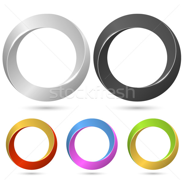 Ring loop sign vector template with color variants. Stock photo © tuulijumala