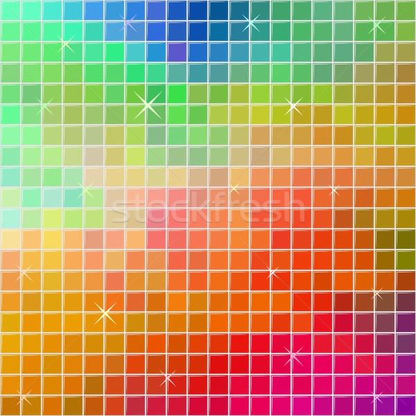 Abstract multicolor square tile mosaic festive background. Stock photo © tuulijumala