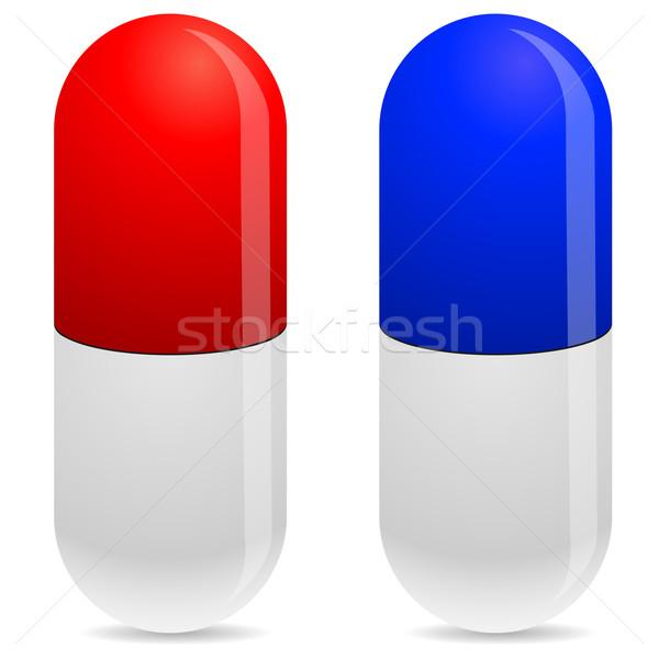 Pill vector icons isolated on white background. Stock photo © tuulijumala
