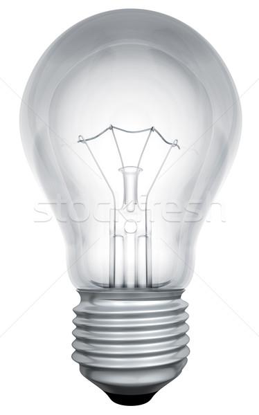 Szabvány villanykörte sablon izolált fehér fény Stock fotó © tuulijumala