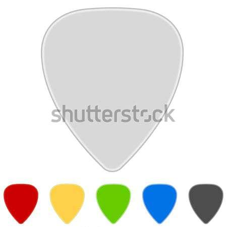 Stockfoto: Kleur · gitaar · geïsoleerd · witte · muziek · Rood