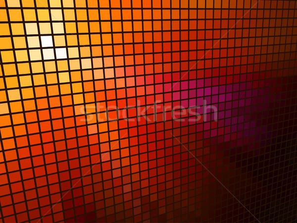 Abstract  red light 3D mosaic horizontal vector background. Stock photo © tuulijumala