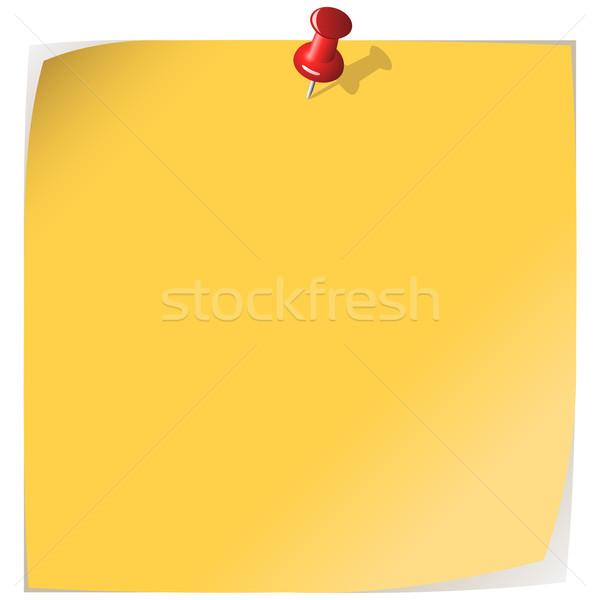 Stock fotó: Citromsárga · levélpapír · izolált · fehér · felirat · kártya