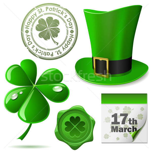 St. Patrick's Day symbols vector set. Stock photo © tuulijumala