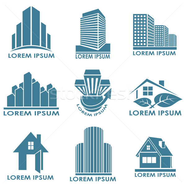 Real estate or construction vector emblems. Stock photo © tuulijumala