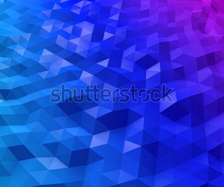 Soyut mavi kırmızı çokgen doku dizayn Stok fotoğraf © tuulijumala