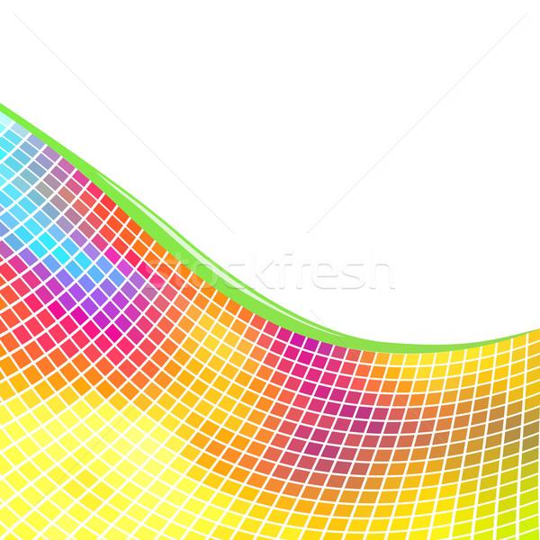 Stockfoto: Kleurrijk · mozaiek · witte · exemplaar · ruimte · muur · abstract