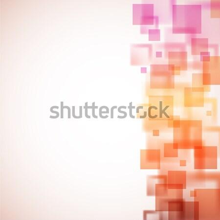 Kleurrijk pleinen vector exemplaar ruimte business abstract Stockfoto © tuulijumala