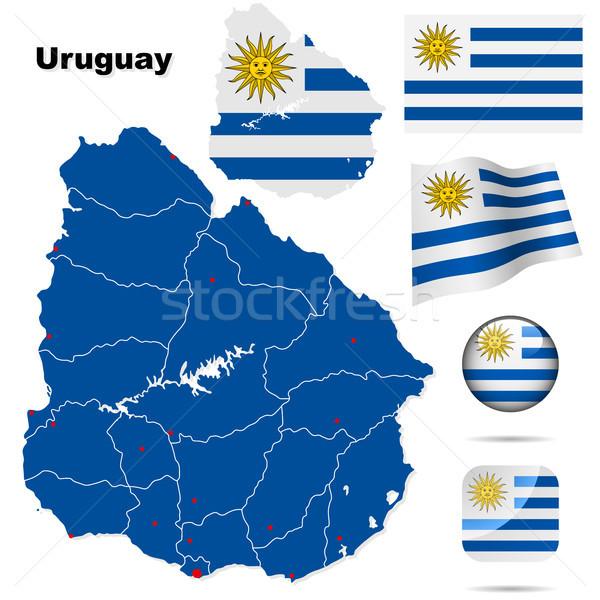 Uruguay vektör ayarlamak ayrıntılı ülke biçim Stok fotoğraf © tuulijumala
