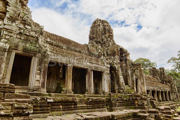 古代 寺 アンコール カンボジア 顔 橋 ストックフォト © tuulijumala