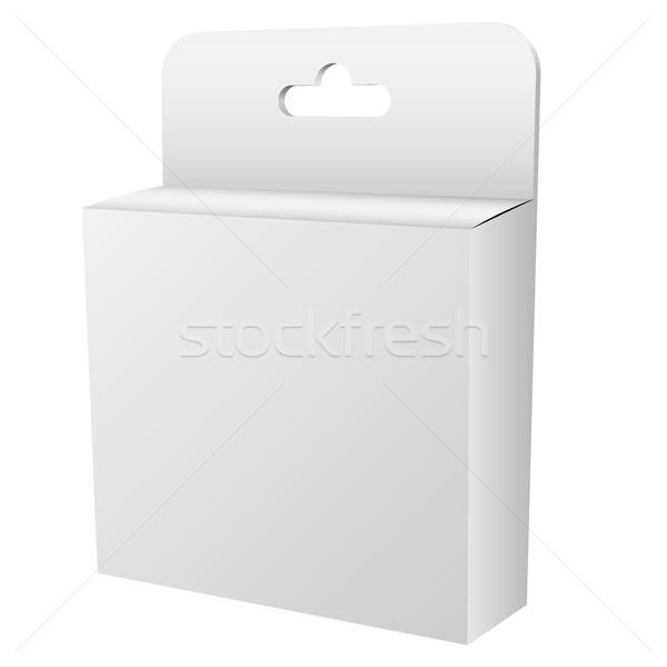 Blanco colgante menor cuadro aislado vector Foto stock © tuulijumala
