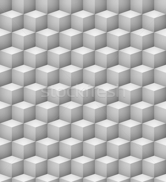 Abstract seamless 3D white cubes vector background. Stock photo © tuulijumala