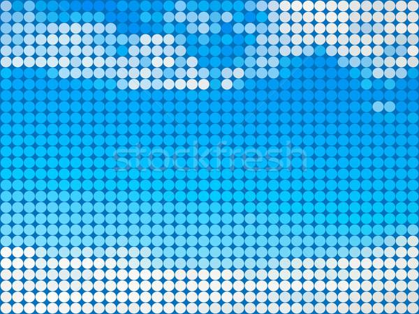 Abstract blauwe hemel wolken tegel schoonheid golf Stockfoto © tuulijumala