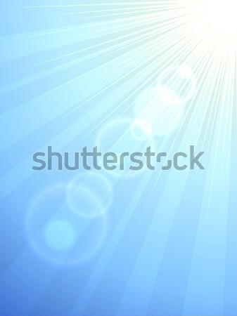 Güneş parlama dikey vektör eps10 dosya Stok fotoğraf © tuulijumala