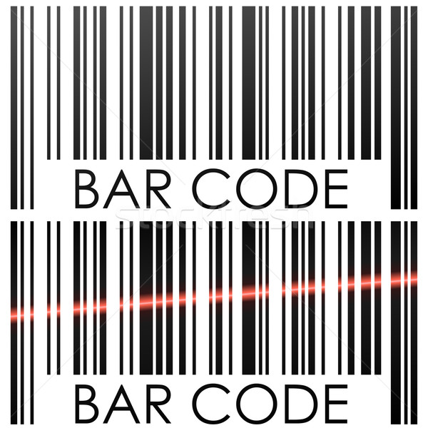 Bar code isolated on white background concept vector illustratio Stock photo © tuulijumala