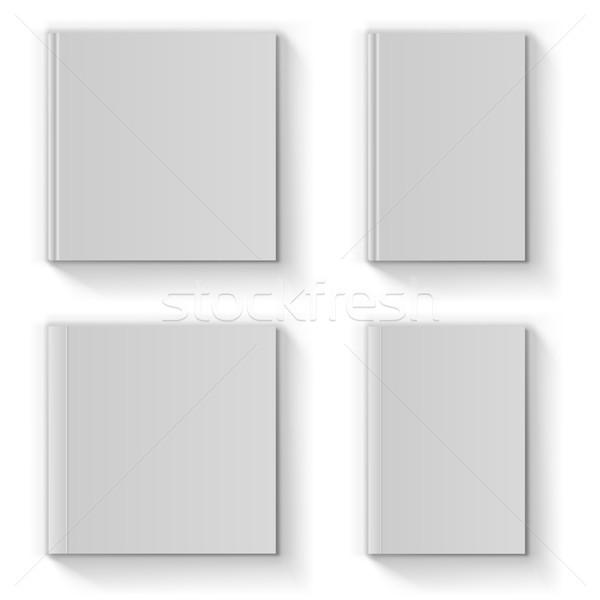 Blank book cover vector template Stock photo © tuulijumala