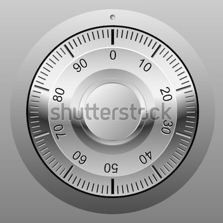 Realistic vector illustration of safe combination lock wheel. Stock photo © tuulijumala