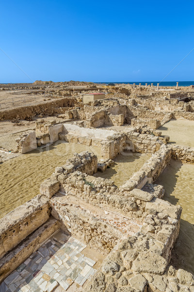 Paphos archeological park landscape in sunny day, Cyprus. Stock photo © tuulijumala