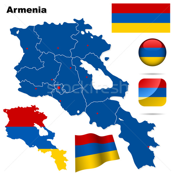 Armenia vettore set dettagliato paese Foto d'archivio © tuulijumala